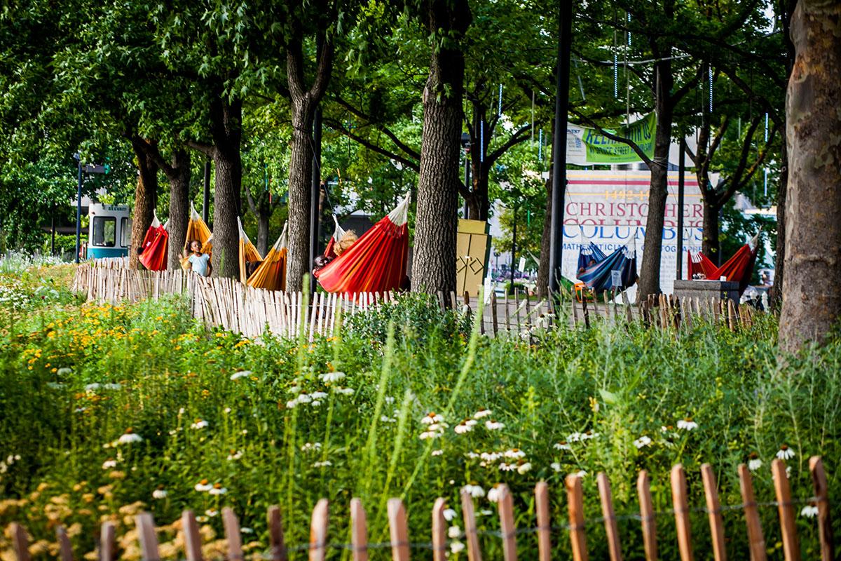 Hammock garden. Photo by Ashley LaBonde of Wide Eyed Studios