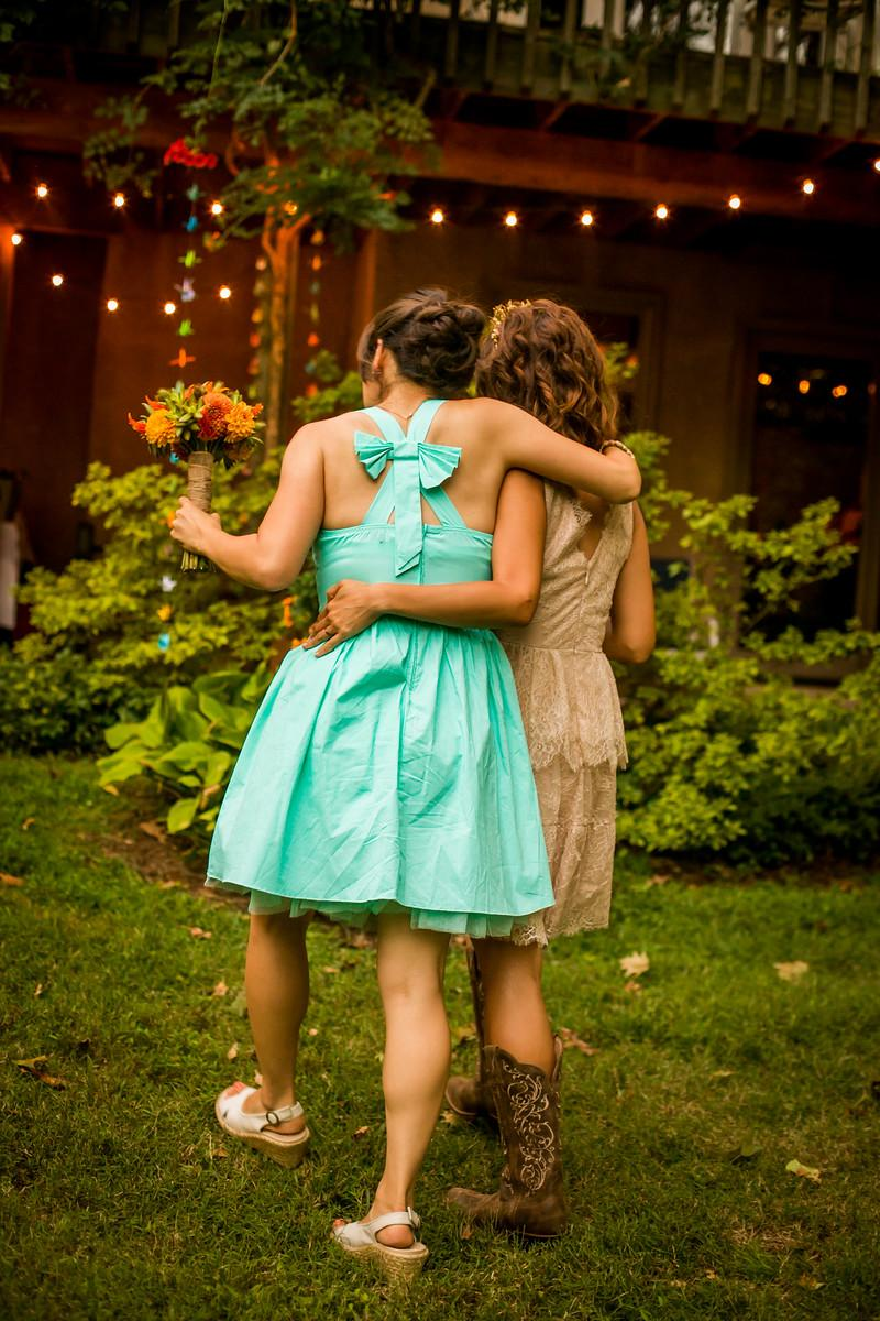 My younger sister was both my rock of sanity during the wedding and matron of honor. Photo by Ashley LaBonde of Wide Eyed Studios