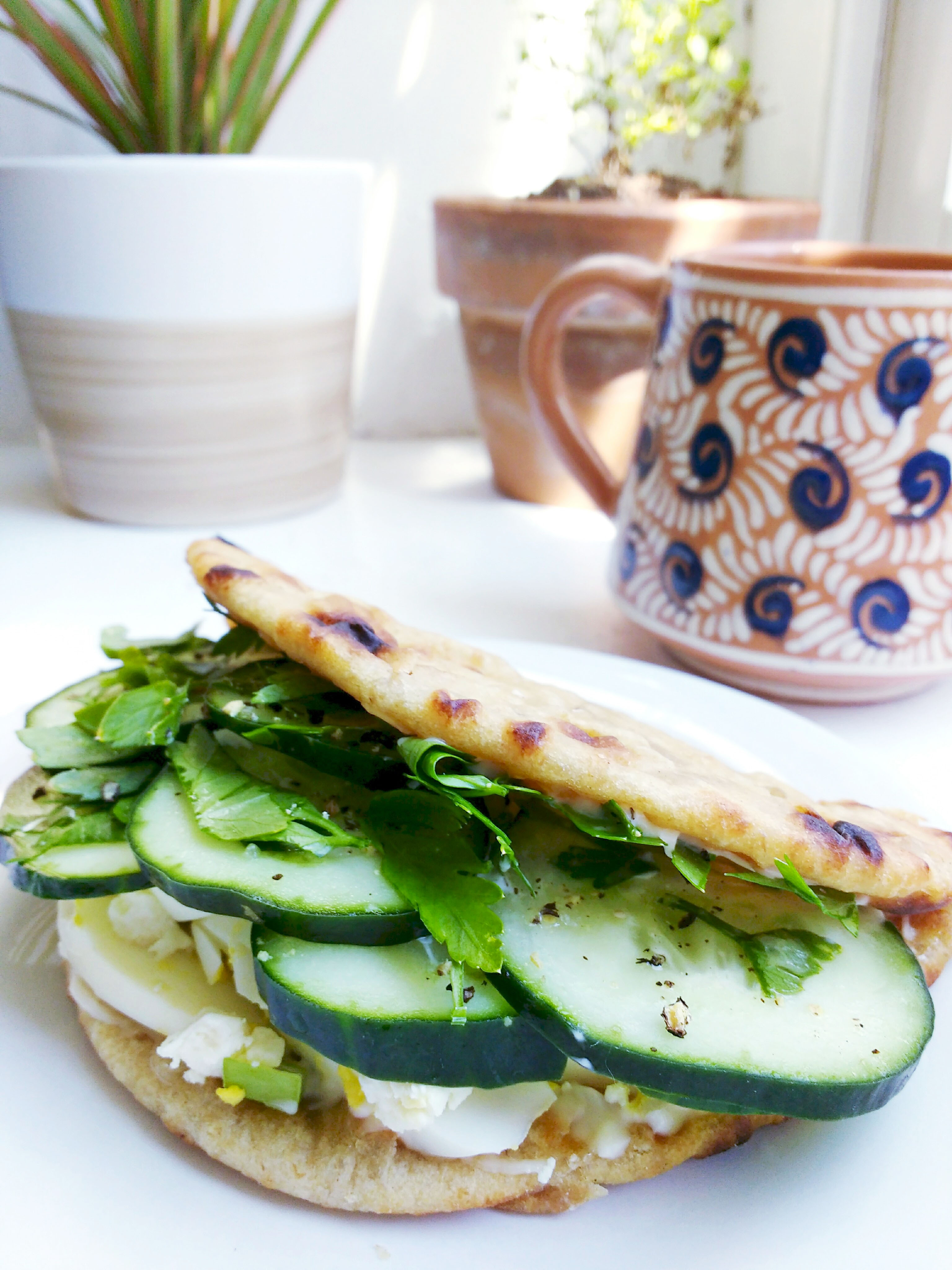 Turkish Inspired Egg Salad Sandwich